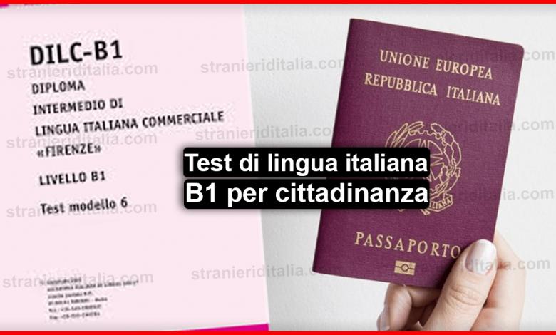 Test Lingua Italiana B1 Per Cittadinanza 2020 Guida Completa