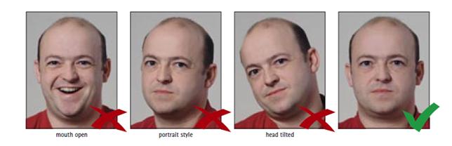وضعية الرأس وتعابير الوجه