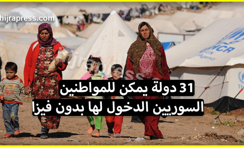 صورة دول بدون فيزا للسوريين .. تعرف على 31 دولة يمكن للمواطنين السوريين الدخول إليها بسهولة