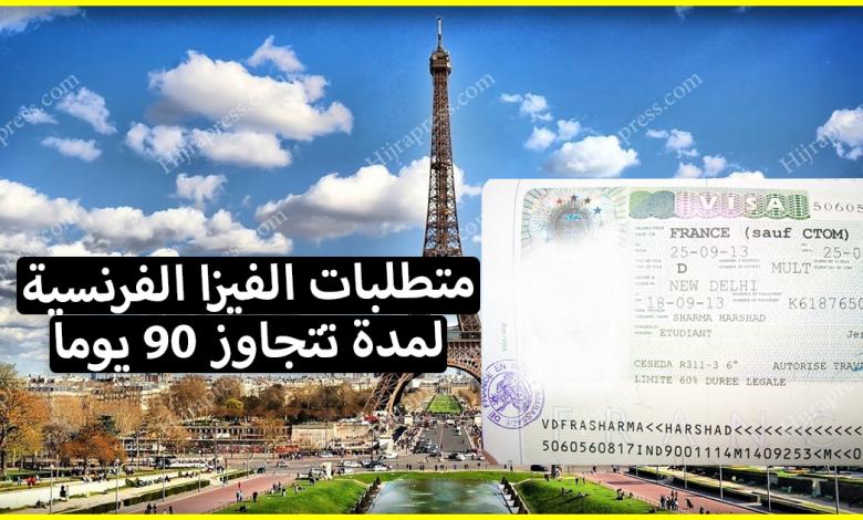متطلبات الفيزا الفرنسية 2020_2021 لمن يرغب في السفر إلى فرنسا لمدة تتجاوز 90 يوما